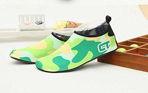 Chaussures de Sport Chaussures Eau Treadmill Chaussures de Randonnée Chaussures de Yoga Doux vert fluorescent