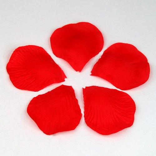 TOOGOO(R) 100 x ROSSO SCURO TESSUTO DI LUSSO petali di rosa per il matrimonio San Valentino Festa REGALO