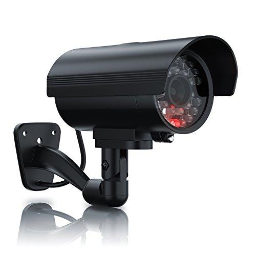 Brandson - Cámara Falsa de vigilancia | Cámara de Seguridad ficticia | Cámara de videovigilancia Falsa | Pantalla LED | Diseño Original | Led Rojo Intermitente