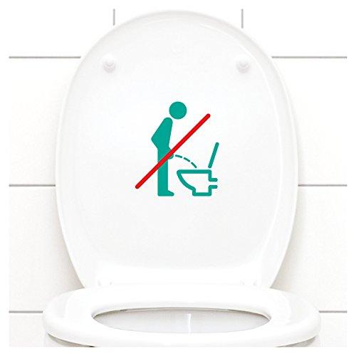 ttoo WC im Sitzen pinkeln l türkis 11 x 12 cm l Piktogramm WC Bad Badezimmer Toilette Aufkleber Wandaufkleber Wandsticker (Teal Dekorationen)