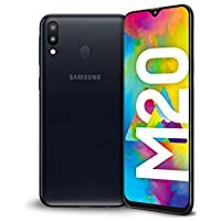"Samsung Galaxy M20 Display 6.3"", 64 GB Espandibili, RAM 4 GB, Batteria 5000 mAh, 4G, Dual SIM Smartphone, Android 8.1.0 Oreo Nero (Charcoal Black) [Versione Italiana]"