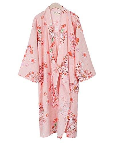 Blancho Floral Cotton Pyjamas Schlafen Schweiß Khan Steamed Kleidung Loose Pyjamas Yukata -