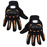Kurtzy Riders Motor Gloves Full Finger for Sports Bike, Cycle, Screen Hand Grip