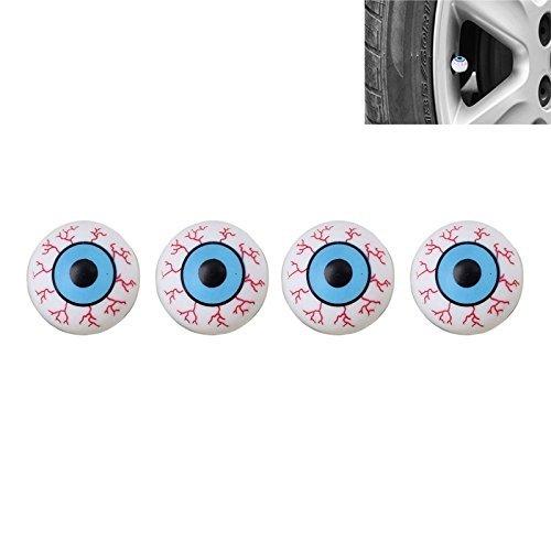 Ventilkappen für Auto Autos PKW LKW Motorrad 4 Stück blaue Auge Augen Lkw-monster-logo