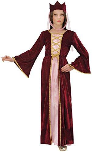 Widmann 12578 – Kinderkostüm Burgfräulein, mittelalterliche Königin, Kleid mit Kopfbedeckung in Größe 158 cm - 2