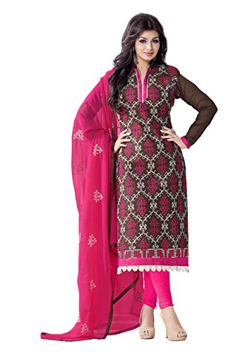 Blissta Coffee Chanderi Embroidered Unstitched straight Partywear Dress Material(Diwali special 2017, ,great indian festival sale,festival offer,best deals of the day,traditional for women,sales offers)  available at amazon for Rs.999