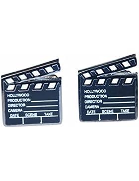 Filmklappe Manschettenknöpfe Miniblings Knöpfe + Box Regisseur Klappe Film Kino