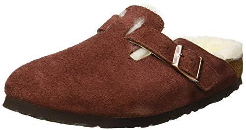 Birkenstock boston, pantofole aperte sul retro donna, rosso port, 40 eu