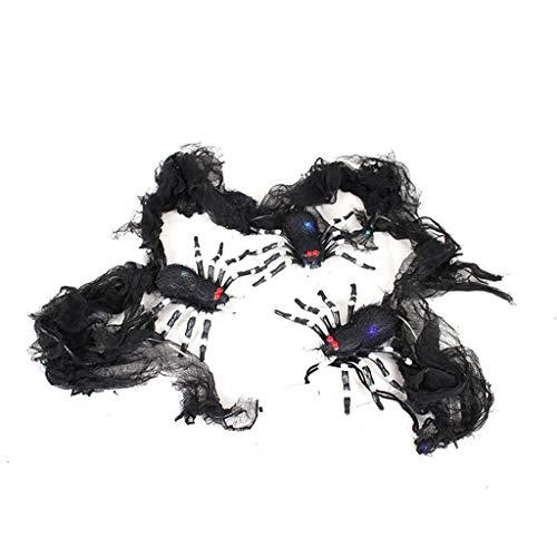 Jason Sexy Kostüm - MA87 Halloween glühende Spinne String Simulation dekorative Fledermaus, Halloween Dekoration,Gruslig,Gruselig,Partyzubehör (C)