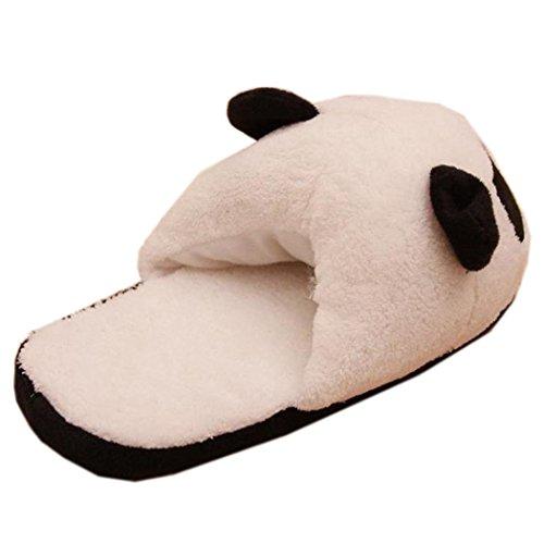 Pantuflas Invierno,Xinan Mujer Panda Calentar Felpa