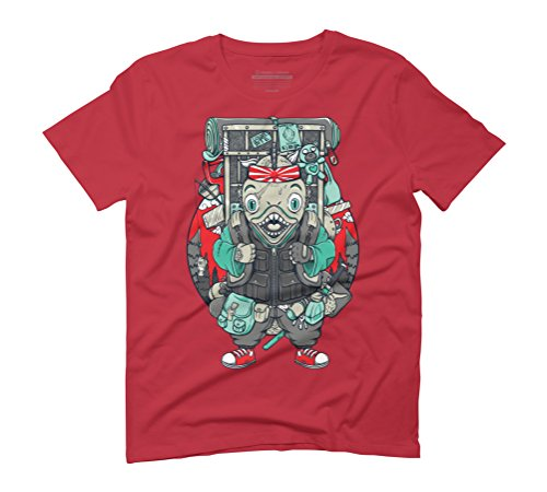The Lost Samurai Men's Graphic T-Shirt - Design By Humans Red