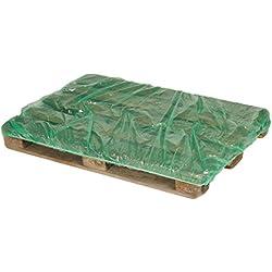 10pieza cubierta para Palets, Verde, De Polietileno–Protectora Dimensiones–Euro palé–
