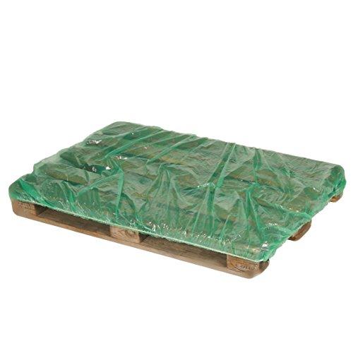 Abdeckhaube für Europaletten, grün, PE-Folie - Abdeckung Paletten - Europalettenschutz (10 Stück)