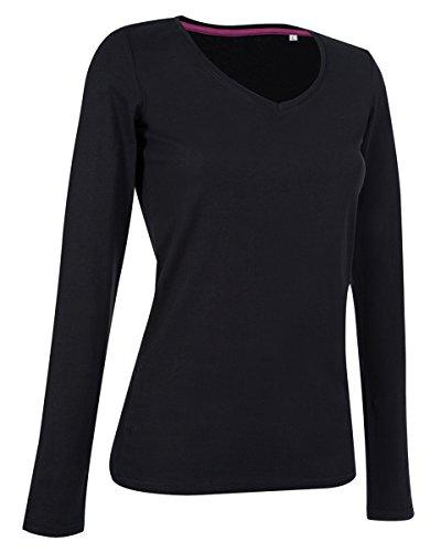 Stedman Stars By Claire-Maglietta a maniche lunghe, collo a V Black Opal