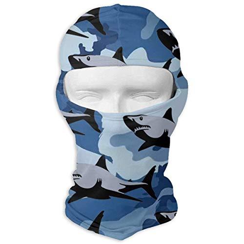 Jxrodekz Blue Shark Camo Motorcyle Gesichtsmaske Multifunktionssport Magie Kopfbedeckung