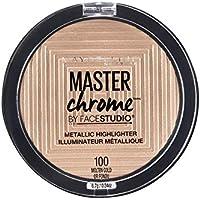 Maybelline New York Master Chrome - Polvos Iluminadores Metalizados, Tono 100 Molten Gold