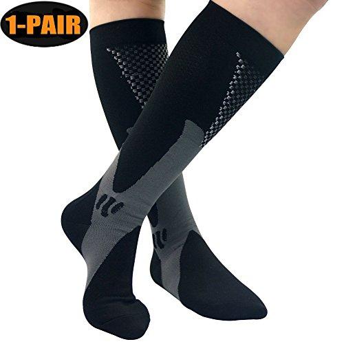 Fansir calze a compressione per uomini e donne, calzini graduata sport calze