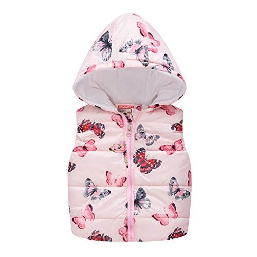 LEXUPE Baby Fleece-Overall, atmungsaktiver Unisex-Jumpsuit für Jungen und Mädchen mit langem Reißverschluss und Kapuze, farbig abgesetzt(Rosa,90)