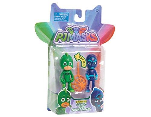 JP PJ Masks jpl24888Gekko und Nacht Ninja Wave 2Licht bis Figur