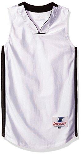 Intensität Jungen Youth Pro Style Dazzle Basketball Jersey, Jungen, weiß / schwarz, X-Large