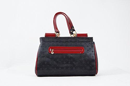 Tasche Damentasche Luxus Einfarbig Abendtasche Taymir 2Jahre Garantie creme usw. Schwarz-Rot
