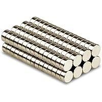 Magnetastico® | 25 piezas imanes de neodimio N52 discos 8x3 mm | Imán de nevera Imán para cartelera Imán permanente Imán para pizarra interactiva