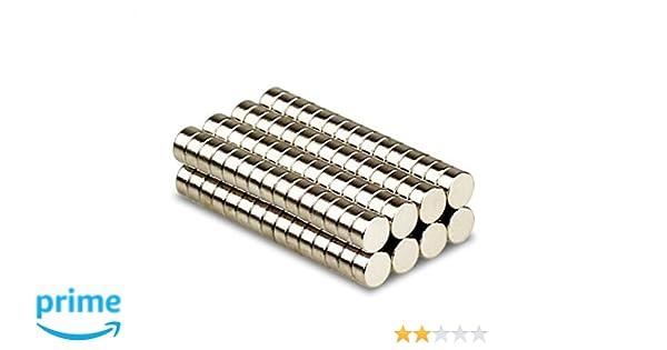 Magnetastico/® Magneti molto forti Supermagnete al neodimio Calamita da bacheca Magnete permanente Magnete per lavagna interattiva 5 pezzi magneti al neodimio N52 dischi 20x5 mm