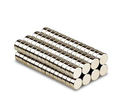 Magnetastico® | 100 Stück Neodym Magnete N52 Scheibe 6x2 mm | Kühlschrankmagnet Pinnwandmagnet Dauermagnet Whiteboard Magnet Haftmagnet Scheibenmagnet