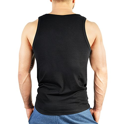 Herren Tank Top für Bergsteiger - Hier anzutreffen - Wandern - Bergwandern - Geschenk - Muskelshirt - Oberteil - shirt - schwarz Schwarz
