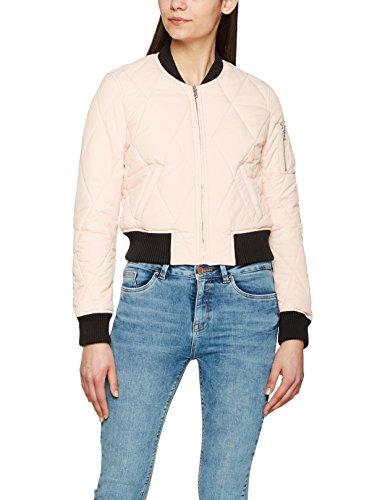Urban Classics Damen Jacke Ladies Diamond Quilt Short Bomber, Mehrfarbig (Light Pink/Black 842), X-Small