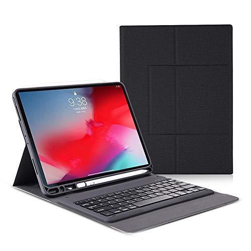 Womdee iPad Pro 11 Hülle mit Tastatur, Premium Ultra-Slim Abnehmbare Lederhülle mit kabelloser Tastatur und Bleistiftschlitz Auto Sleep Wake für iPad Pro 11 Zoll 2018 Tablet