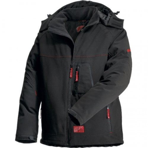 Red Wing 69006 JACKE SOFT SHELL 3-LAYER Schwarz Rot M 3 Layer Soft Shell