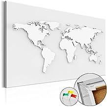 murando Cuadro - Tablero de corcho 90x60 cm - 1 Parte - Cuadro sobre corcho Mapamundi Mundo Continente k-B-0013-p-a 90x60 cm