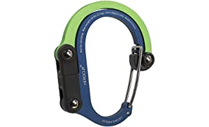 HEROCLIP 3-in-1 Multifunction Carabiner Clip With Rotating Folding Hook - Strong Clip for Camping, Travel, Adventure Tool, Sports Accessory, Organising Gadget, Baby Pram Hook