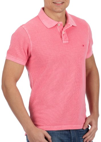 Tommy Hilfiger LEGEND GMD POLO SS SF 853522084 Herren Shirts/Poloshirts Pink (Jagger Pink-Eur)