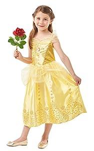 La Bella y La bestia Live Action - Disfraz Bella Classic Deluxe infantil, color amarillo, M (Rubie