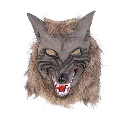 Ouken 1Pc Halloween-Kostüm Horrific Wolf-Kopf-Maske Wolf GlovesTerror Teufel Abendkleid-Partei Props Halloween Wolf-Kopf-Handschuh für Männer und Frauen, - Gru Kostüm Halloween