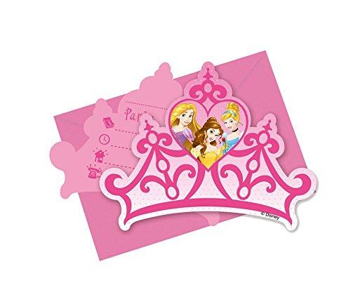 Einladungskarten * I'm princess * 6 Stck. / ca. 14 x 10 (Dekorationen Prinzessin Disney Party)