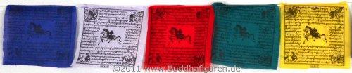 BUDDHAFIGUREN Bandiere di preghiera buddista in cotone - 10 bandiere 160 cm di lunghezza