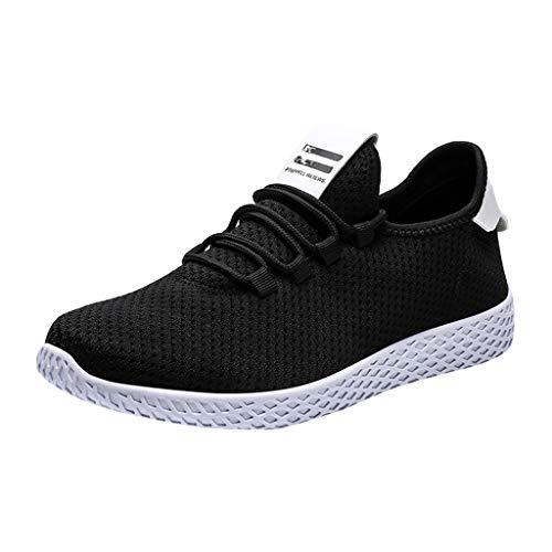 TWISFER Freizeitschuhe Herren Sneaker Sportschuhe Flyknit Mesh Tuch Atmungsaktiv Laufschuhe Ultra-Light Sport Sommerschuhe Schnürer Fitnessschuhe Shoes -
