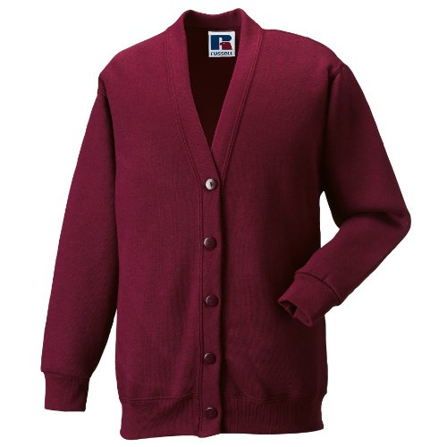 Girls School Cardigan Fleece Sweatshirt Uniform Schoolwear Age 2 3 4 5 6 7 8 9 10 11 12 13 14 + Adult Sizes