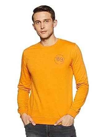 Peter England Men's Sweatshirt (PJSTJRGPS05770_Yellow_M)