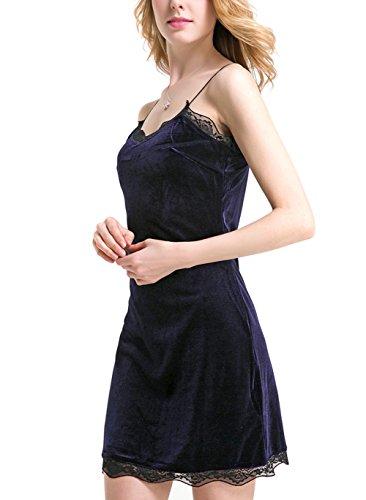 Deargirl - Robe - Cocktail - Sans Manche - Femme Bleu Marine