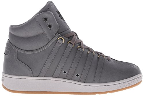 K-Swiss Classic Vn Mid, Baskets Basses homme Anthracite / gris goéland