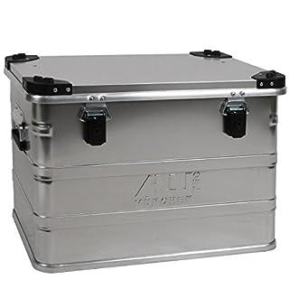 Aluminium case transport box in silver, 76 litters volume - D 76 size: L 592 x W 388 x H 409 mm by alutec