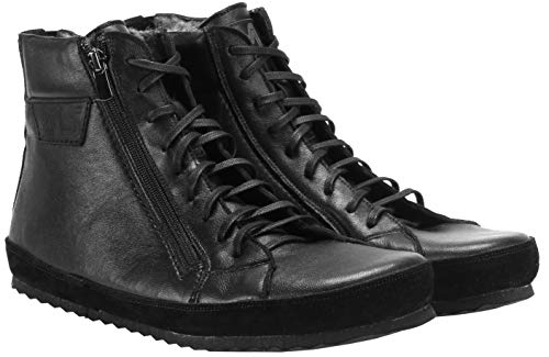 Magical Shoes Alaskan Winter Barfußschuhe | Damen | Herren | Jugendliche | Zero Drop | Flexibel | Rutschfest | Ziegenleder | Warm, Größen:43/276mm, Farbe:Schwarz