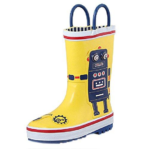 Mode bottes de pluie / enfant botte de pluie, Robert jaune / 17 cm