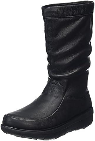 FitFlop Loaff Knee, Damen Stiefel, Schwarz (Schwarz), 39 EU (6