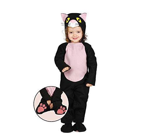 ostüm Katze für Kinder Katzen Kinderkostüm schwarze - Gr. 82-90 ()