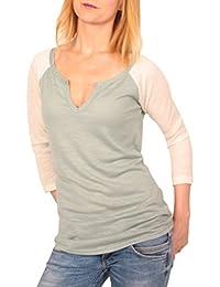Ella Manue Frauen Damen Raglan Baseball Serafino Shirt Joy